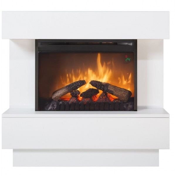 Kominek Avalone Eco Led biały - elektryczny kominek z obudową  Dimplex +brzęczek gratis