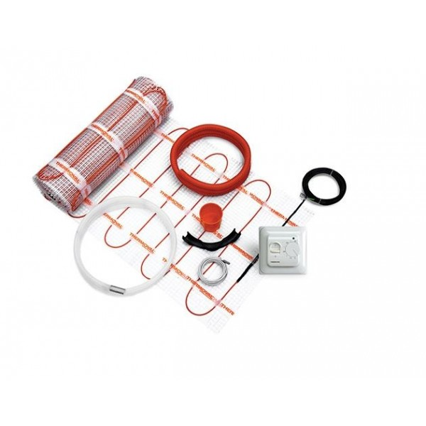 Mata grzewcza 170W / 6,0m² Kompletny zestaw z regulatorem manualnym i matą jednostronnie zasilaną Thermoval