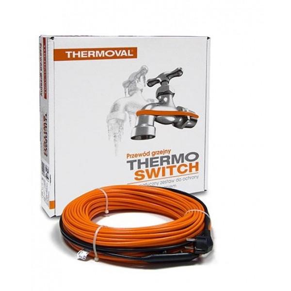 Zestaw grzejny 14m 17W/m do ochrony rur TV Thermo Switch Thermoval