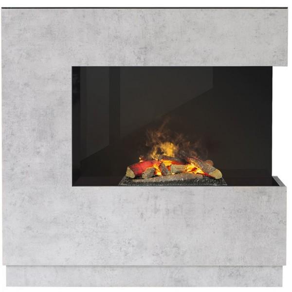 Kominek Zen Beton  - elektryczny kominek z obudową 3D Dimplex+brzeczęk