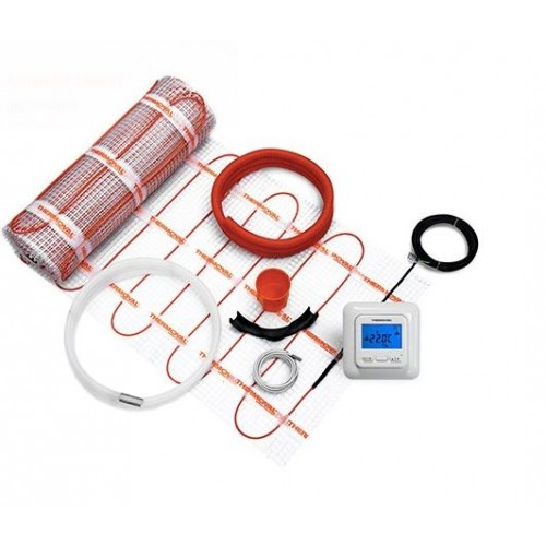 Mata grzewcza 2,5m² z regulatorem elektronicznym Thermoval kompletny zestaw