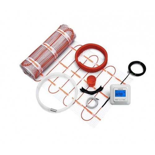 Mata grzewcza 170W /8,0m² Kompletny zestaw z regulatoremTVT 04 programowalnym i matą jednostronnie zasilaną Thermoval