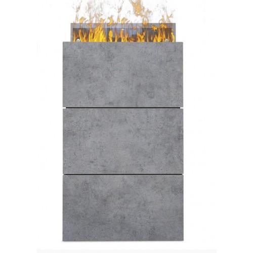 Kominek Tower - elektryczny kominek z obudową beton optimyst 3D Dimplex