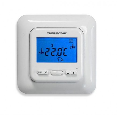 TVT 04 ED -regulator temperatury z czujnikiem powietrznym i podłogowym Thermoval
