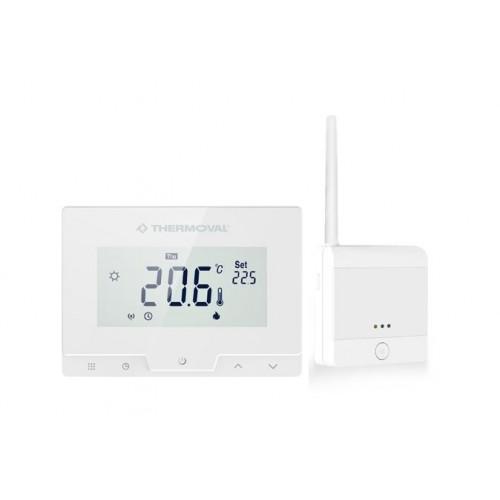 TVT 50 WiFi  bezprzewodowy regulator temperatury  z czujnikiem powietrznym lub podłogowym Thermoval