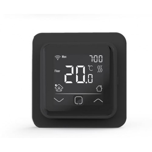 TVT 40 CB WiFi  czarny-regulator temperatury z czujnikiem powietrznym lub podłogowym Thermoval