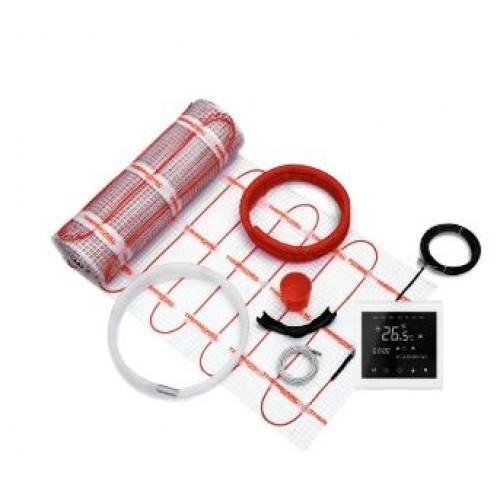 Mata grzewcza 170W /2,5m² Kompletny zestaw z regulatorem programowalnym TVT 30 BS i matą jednostronnie zasilaną Thermoval